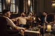 canvas print picture Men Enjoying Drinks