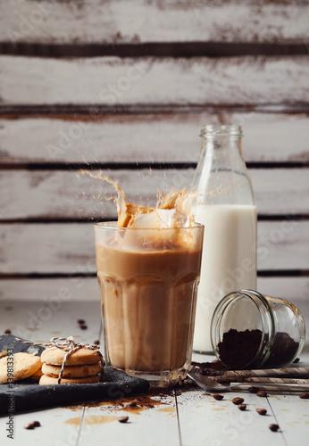 Foto op Canvas Chocolade Ice latte
