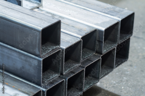 Fotografia bars made of carbon steel