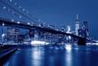 Brooklyn Bridge at night, New York, USA
