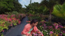 Woman In Tropical Bougainville...