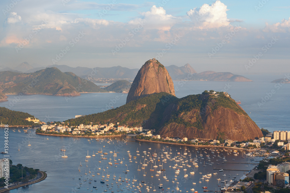 Fotografiet  Mountain Sugarloaf, Rio de Janeiro, Brazil