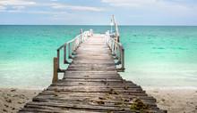 Wooden Dock In Thailand Seasid...