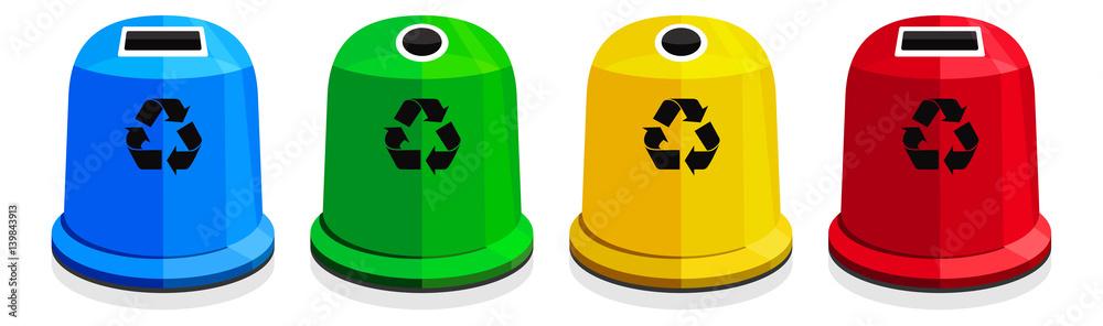 Fototapeta Segregacja śmieci / recykling