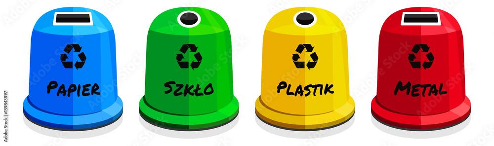 Fototapeta Recykling / kontenery