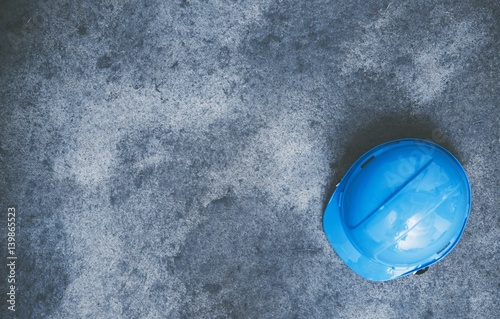 Hard Hat on the Concrete