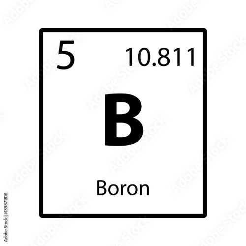 Boron Periodic Table Element Icon On White Background Vector Buy