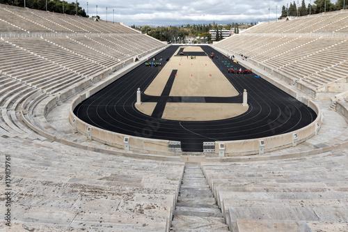 Staande foto Athene Panorama of Panathenaic stadium or kallimarmaro in Athens, Attica, Greece