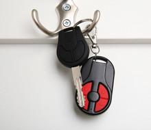 Car Key Hanging On A Hook
