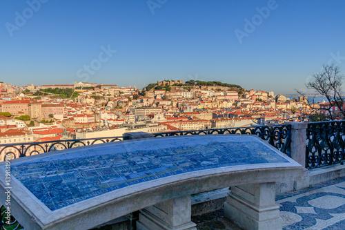 Photo  Lisboa Vista do Miradouro de São Pedro de Alcantra