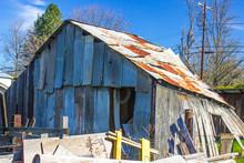 Rear Of Falling Down Tin Barn