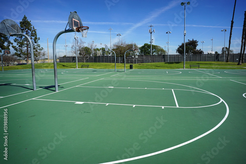 фотографія  outdoor basketball courts at public park