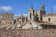 View of historic building roofs of Guadalupe, Spain