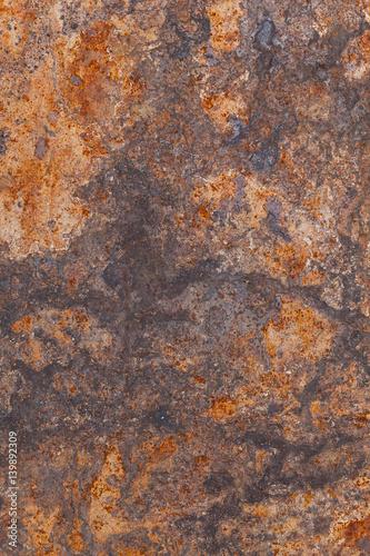 Fotografie, Obraz  Metal Grunge Rusted and Scraped