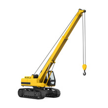 Crawler Crane Isolated