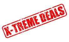 X-TREME DEALS Red Stamp Text
