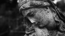 Statue Of Woman On Tomb As A S...