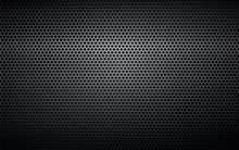Black Perforated Metal Backgro...