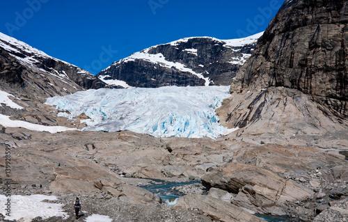 Fotografia, Obraz  Receding glacier Nigardsbreen - Jostedalsbreen National Park, Norway
