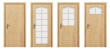 Wooden Door Isolated On White ...