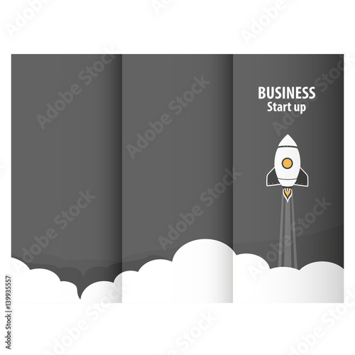 Fotomural Rocket success triptych for online business