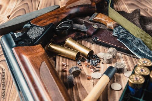 Photo Set of  hunting equipment