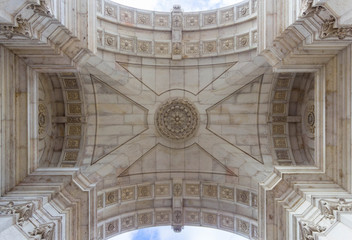 FototapetaRua Augusta Arch in Lisbon, Portugal