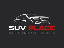 Suv Car Logo On Dark Backgroun...