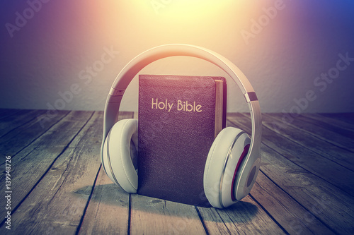 Vászonkép Audio Bible