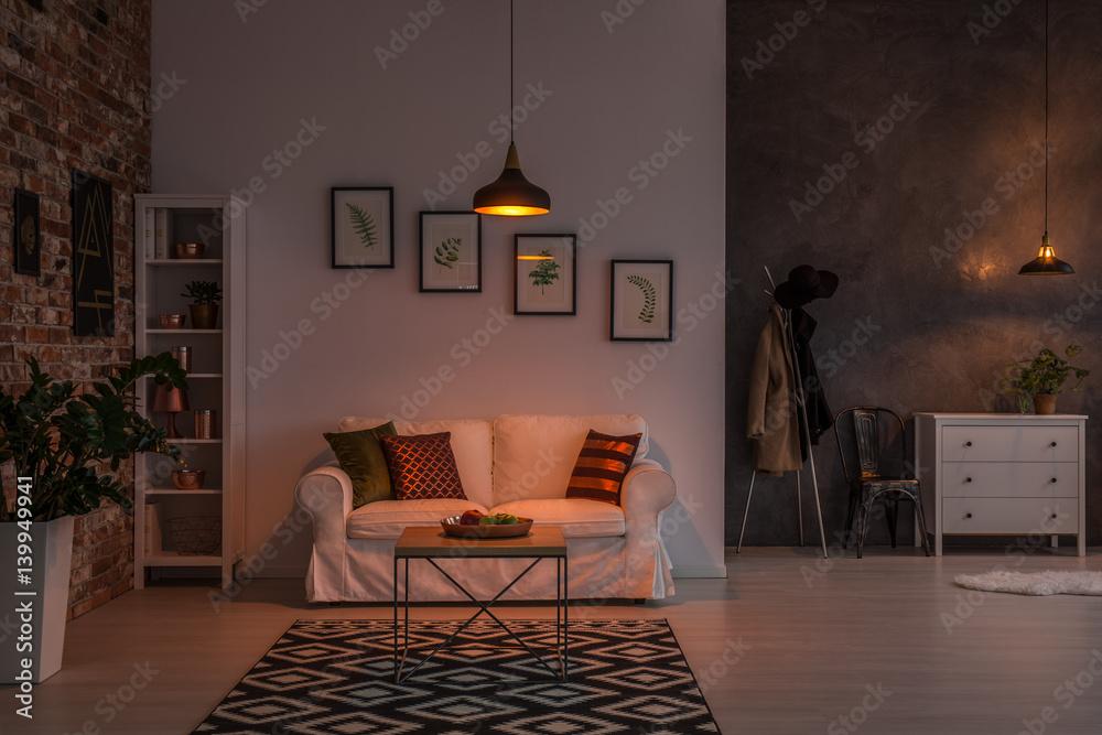 Fototapety, obrazy: Open living room