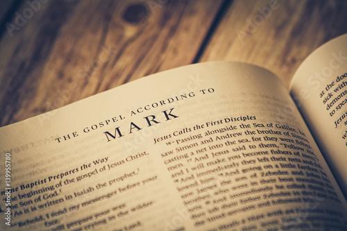 Obraz na plátně The Gospel According To Mark