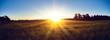 canvas print picture - Sunrise country landscape