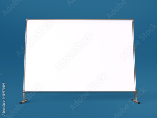 Mobile booth, brand or Press Wall with a blank banner mockup 3d