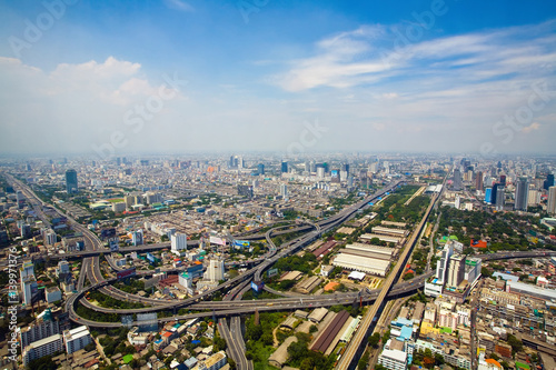Beautiful views of the capital of Thailand Bangkok. Poster