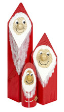 Santa Claus Family Figurine Isolated On White Background
