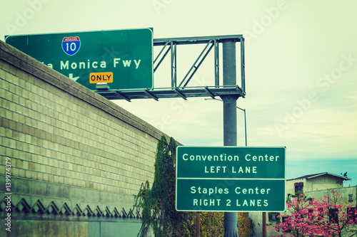 Poster Los Angeles exit sign in Los Angeles