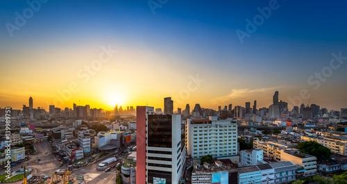 Poster Chicago Bangkok metropolis cityscape