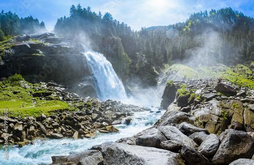 Fotografie, Obraz  Krimmler Wasserfaelle, National Park Hohe Tauern, Salzburg, Austria