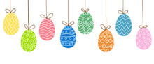 Easter Eggs Hanging