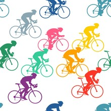 Bicycle Drivers Pattern - Colorful