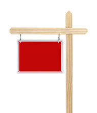 Red Real Estate Sign