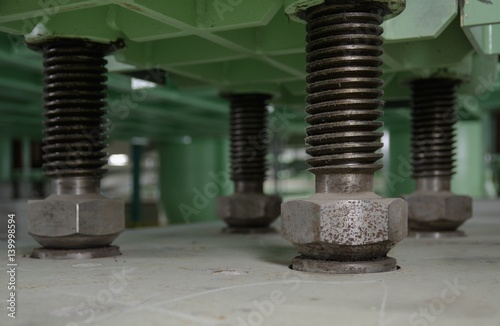 Large spacer bolts and nuts, which serves to keep the cooling steam