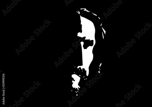 Fotomural Jesus Christ face