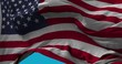 National Flag of the USA waving in the wind slow motion Seamless Loop Animation