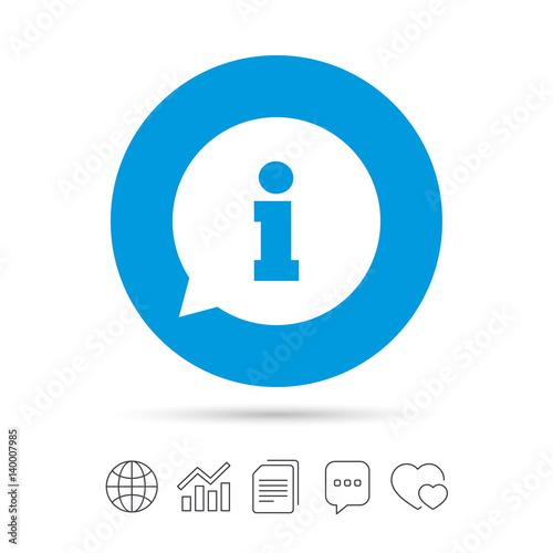 Fototapeta Information sign icon. Info symbol. obraz