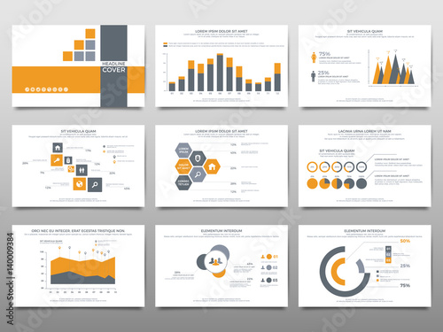 Fotografie, Obraz  Elements for infographics on a white background