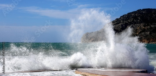 Foto  Wildes Mittelmeer in Bucht vor Camp del Mar, Andratx Mallorca