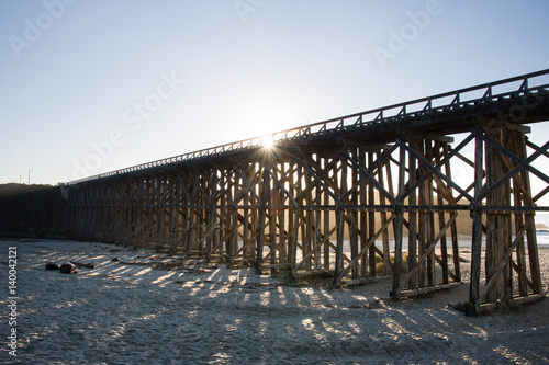 Fotografia, Obraz pudding creek trestle bridge