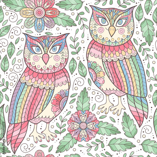 owl-seamless-pattern-with-flowers