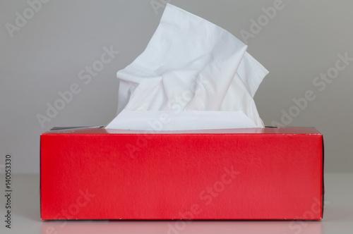Fényképezés  Papiertücherbox, Kosmetiktücherbox, rot